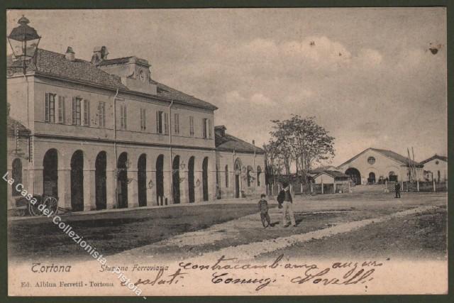 Piemonte. TORTONA, Alessandria. Stazione ferroviaria.