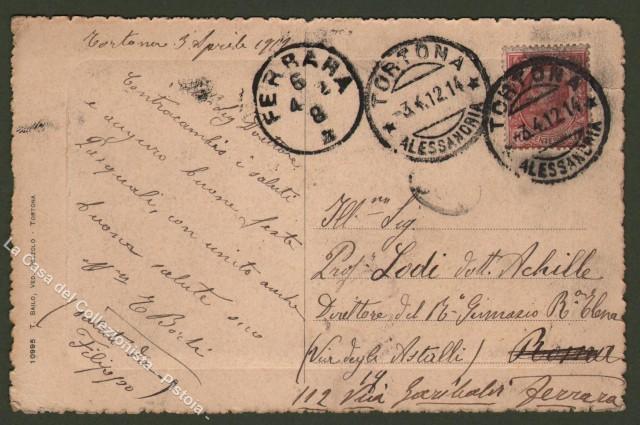 Piemonte. TORTONA, Alessandria. Nuovo Istituto S. Giuseppe. Cartolina d'epoca viaggiata nel 1912.