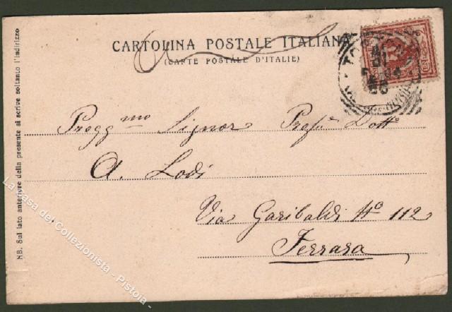 Piemonte. TORTONA, Alessandria. Panorama. Cartolina d'epoca viaggiata nel 1904.