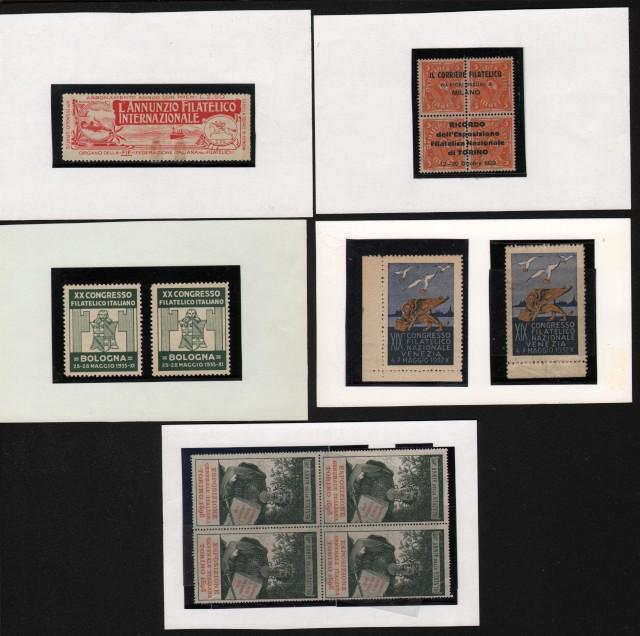 ERINNOFILIA. Chiudilettera. Insieme di 13 pezzi 1898 - 1935.