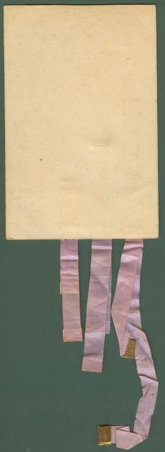 CARTONCINO CALENDARIO formato cartolina (cm 9x13,5) dell'inizio '900