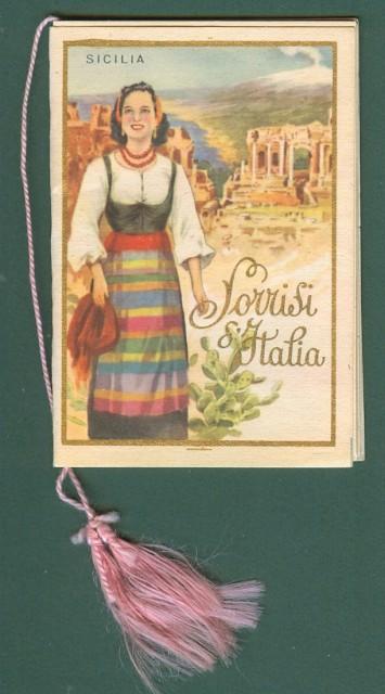CALENDARIETTO anno 1954. SORRISI D'ITALIA