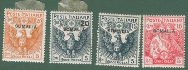 Colonie. SOMALIA ITALIANA. Anno 1916. Croce Rossa.