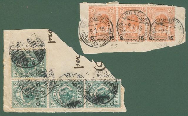 Colonie. SOMALIA ITALIANA. Anno 1906-07.