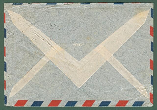 AEROGRAMMA 14.2.1948 da Roma per gli U.S.A.. In tariffa di lire 90.