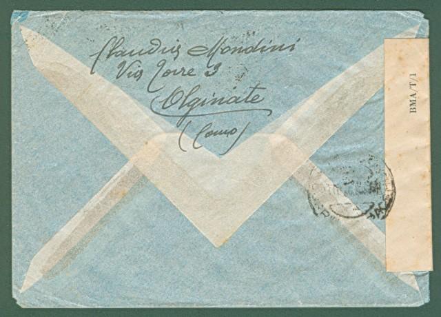 AEROGRAMMA per Tripoli del 15.10.1946. Affrancato per lire 28.