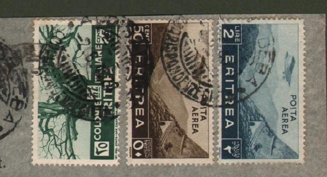 Colonie Italiane. ERITREA. Aerogramma del 2.6.1940 da Addis Abeba per Milano.