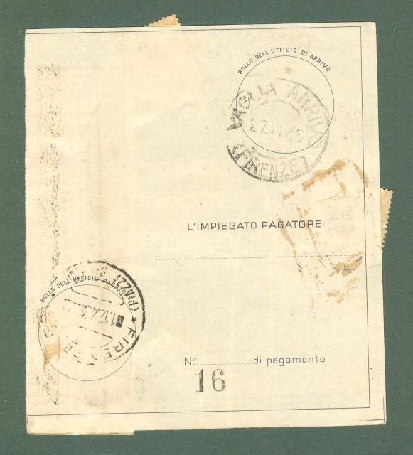 Storia Postale Repubblica. MODULO VAGLIA, sezione A. Applicati francobolli cent. 10 Democratica e cent. 60 luogotenenza. 22.11.1945.