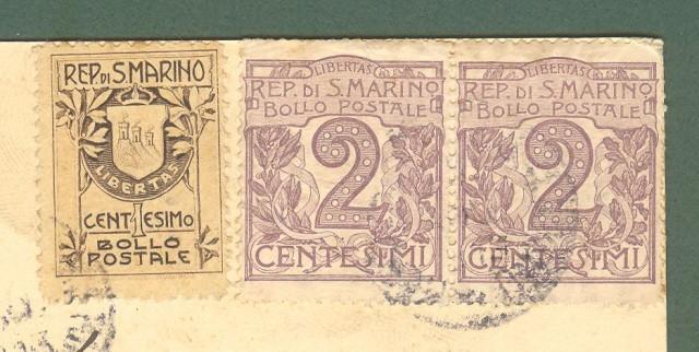 SAN MARINO. Cartolina del 05.08.1913 per Firenze.