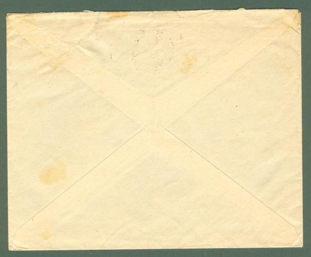 Storia postale Regno. Lettera del 27.11.1935 per Berna affrancata con lire 1,25 azzurro Salone Aeronautica.