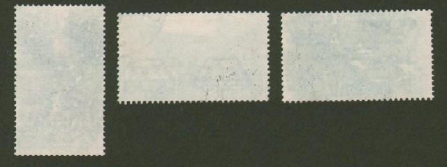 Regno d'Italia. 1936. Bimillenario Orazio. I tre valori con sovraprezzo usati: lire 1,25+1 azzurro, lire 1,75+1 carminio, lire 2,55+1 ardesia.