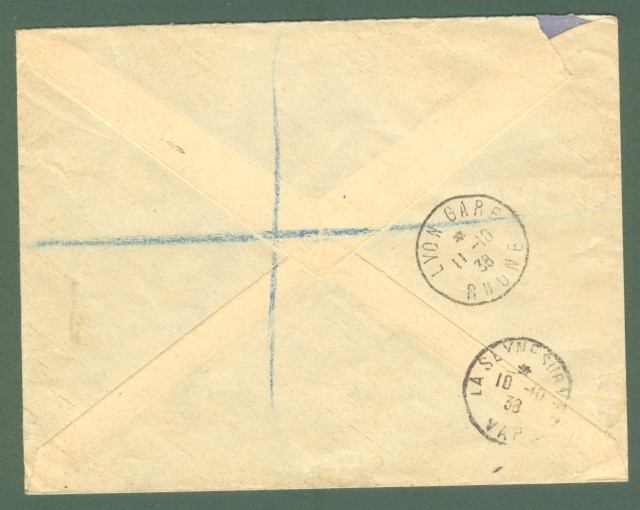 Storia postale estero. FRANCIA, FRANCE. Registered letter 1938 for London.