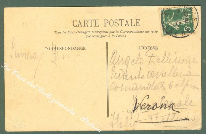 France, Rhone - Alpes, Isere. GRENOBLE. 4° Reg. du Genie. Manoeuvres de Pontage sur l'Isere. Cartolina d'epoca. Anno 1912.