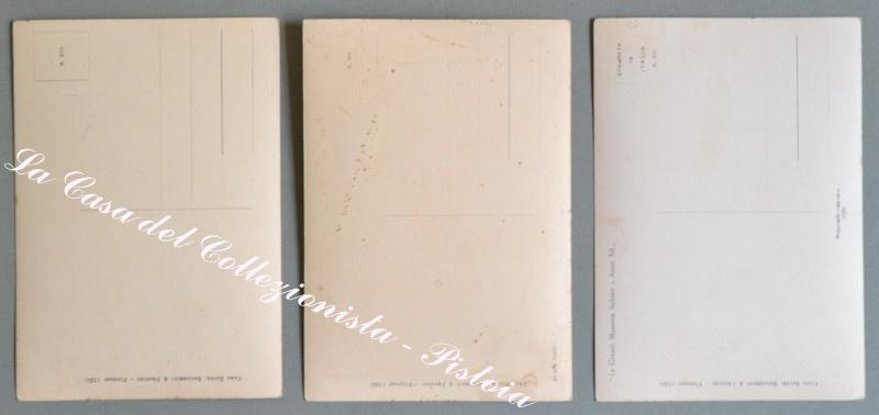 MUSSOLINI. Tre cartoline d'epoca edizioni Ballerini e Fratini, anni 1934/35