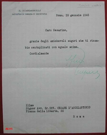 TUPINI UMBERTO (Roma 1889 - 1973).