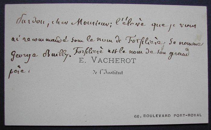 Vacherot Etienne (Torcenai 1809 '– Parigi 1897)