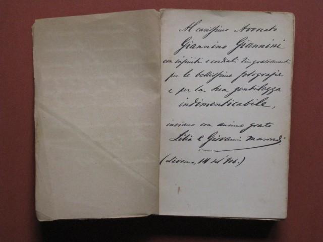 MARRADI GIOVANNI (Livorno 1852 - 1922). Poeta lirico.