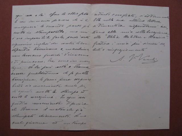 VECCHI AUGUSTO pseudonimo Jack La Bolina (Marsiglia 1842 - Forte dei Marmi 1932).