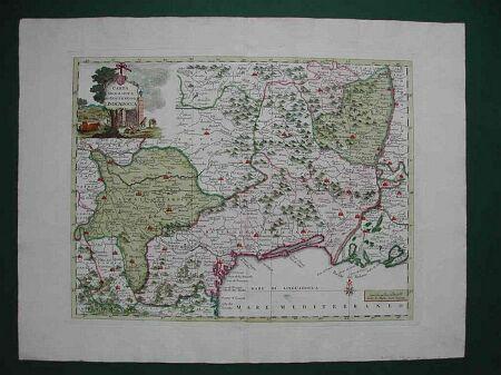 Carta geografica del Governo della Linguadocca.
