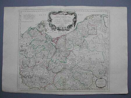 'Partie Septentrionale du Cercle de Haute Saxe qui contient le Duchè de Pomeranie, et le Marquisat de Brandebourg.