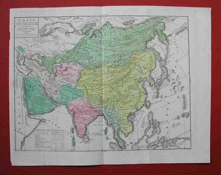 L'Asia. Conforme alle pimoderne mappe, delineata per l'atlante di A. Le Sage.