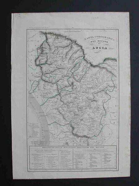"""'""""Carta corografica del Ducato di Lucca'""""."""