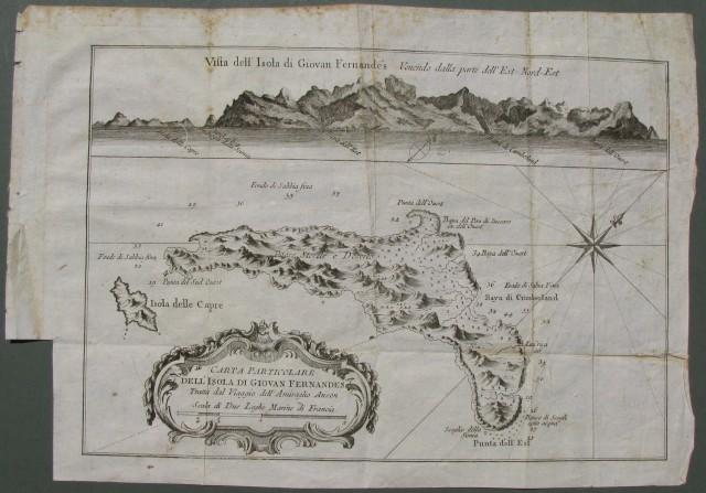 AMERICA MERIDIONALE. Carta particolare dell'isola di Giovan Fernandes tratta dal Viaggio dell'Ammiraglio Anson