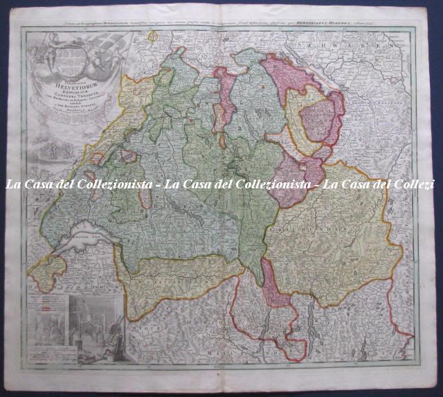 Potentissimae Helvetiorum Reipublicae Cantones tredecim cum Foederatis et Subiectis Provinciis exhibiti a Io. Baptist Homanno