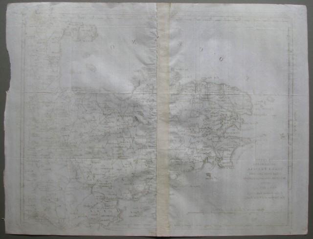 Le coste occidentali della Francia colle isole adiacenti divisa ne' suoi dipartimenti. Venezia 1795. Presso Antonio Zatta e Figli