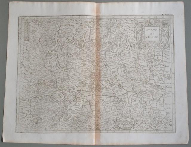 LOMBARDIA. Anno 1630. Stato di Milano. Cartaraffigurante il territorio compreso tra il Lago Maggiore, il Monferrato.