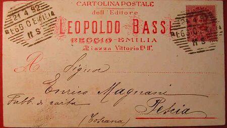 (Emilia Romagna) Cartolina depoca delleditore Leopoldo Bassi