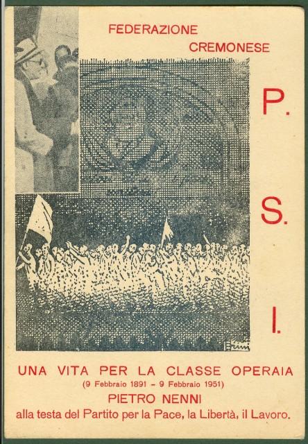 Disegno celebrativo di Pietro Nenni