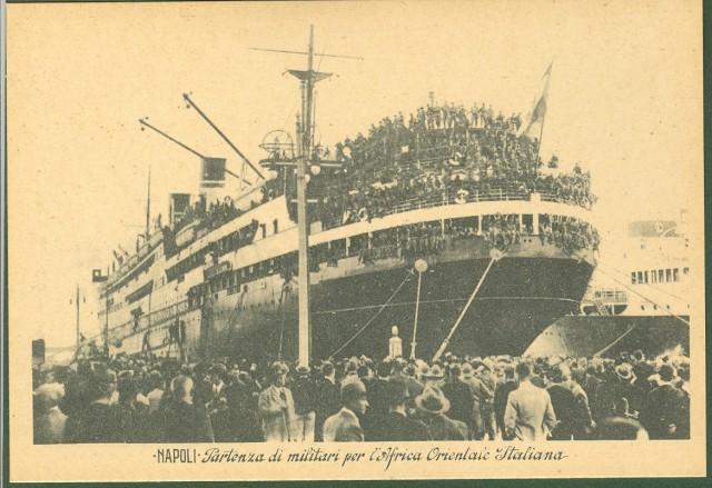 Napoli. Partenza di militari per l'Africa Orientale Italiana