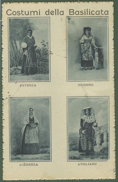 Costumi della Basilicata. Costumi di Potenza, Picerno, Acerenza, Avigliano.