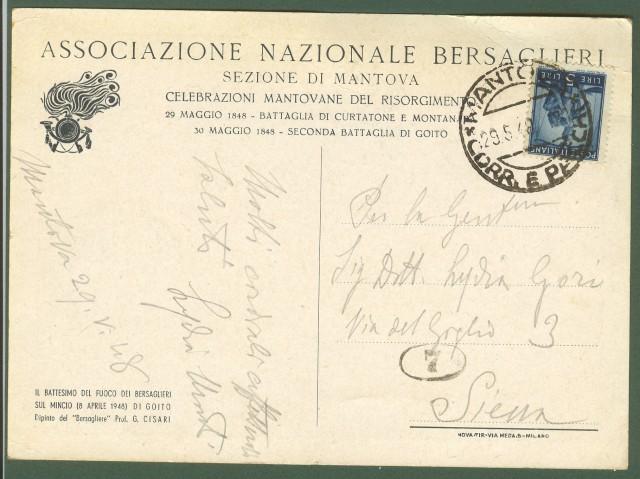 ASSOCIAZIONE NAZIONALE BERSAGLIERI SEZIONE DI MANTOVA.