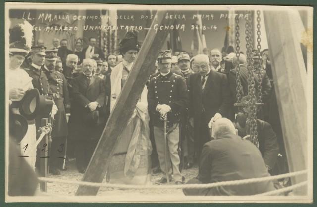 GENOVA. 24.5.1914. Il Re alla cerimonia