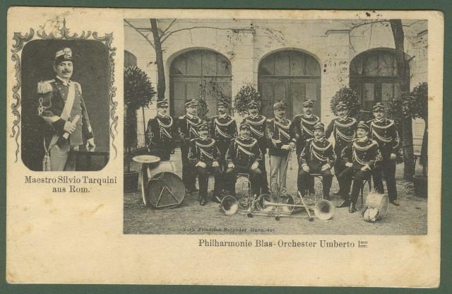 ORCHESTRA FILARMONICA UMBERTO I'°. Viaggiata 1911.