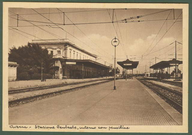 AVERSA (Caserta). Interno stazione ferroviaria.
