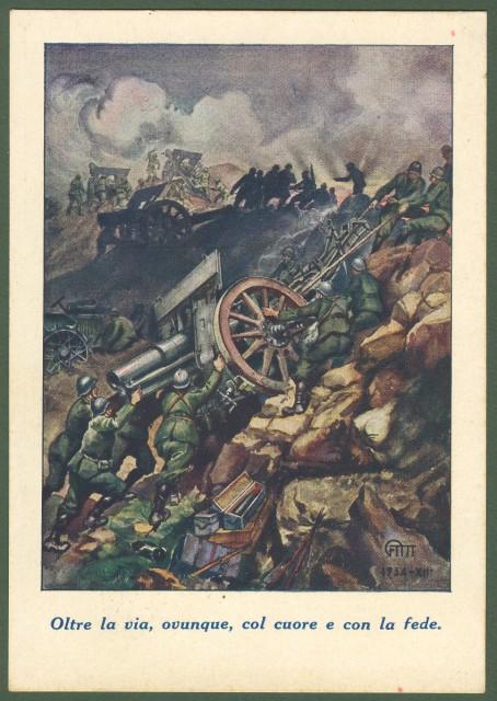 CARTOLINA REGGIMENTALE. Anno 1934.