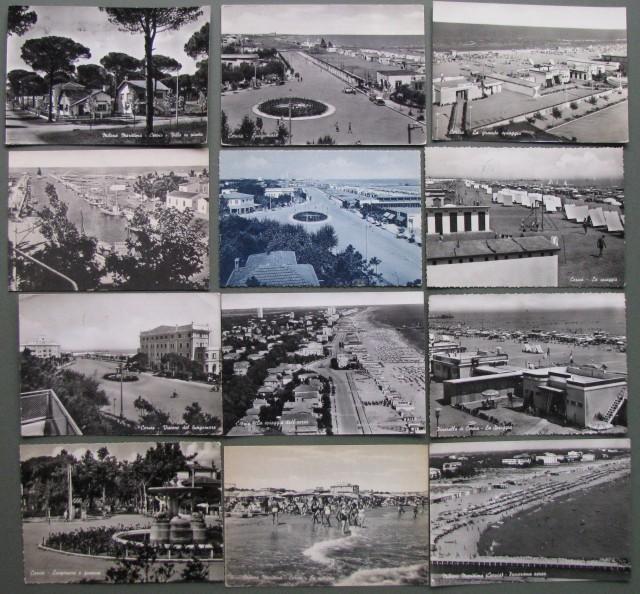 ROMAGNA. CERVIA. Dodici cartoline: 11 viaggiate 1957-62