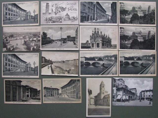 TOSCANA. PISA. Insieme di 16 cartoline. 1910-1930
