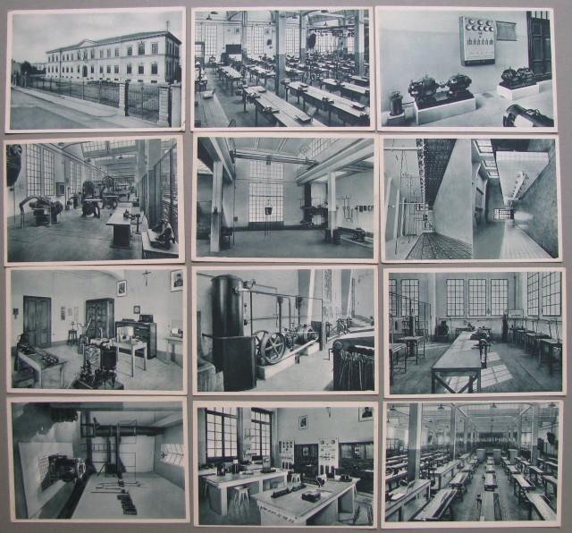 FIRENZE. Scuola Industriale Leonardo da Vinci. 12 diverse cartoline con vedute esterne e interne.