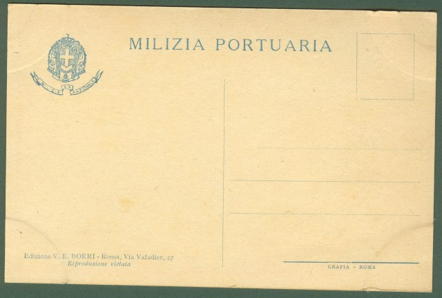 MILIZIA PORTUARIA. Disegno di Vittorio Pisani.