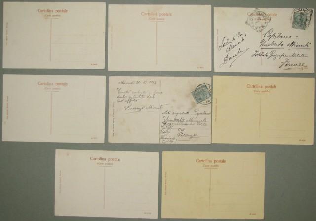 MARRADI (Fi). Otto diverse cartoline. Due viaggiate 1909 e 1912, sei non viaggiate (primi '900).