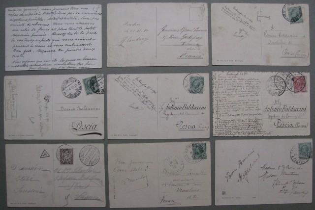 VENTIMIGLIA. Imperia. Nove cartoline, tutte viaggiate 1910-1916.