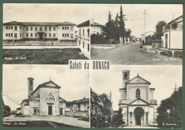 ORNAGO (Milano). Cartolina d'epoca viaggiata nel 1965.