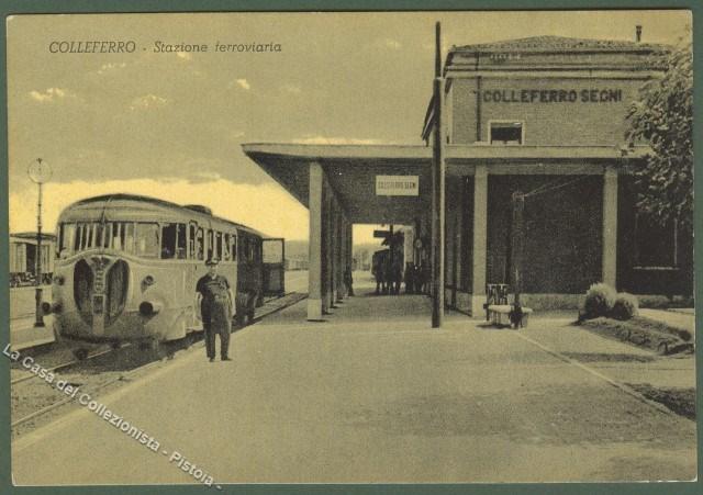 LAZIO. COLLEFERRO (Roma). Stazione ferroviaria. Non viaggiata, circa 1950