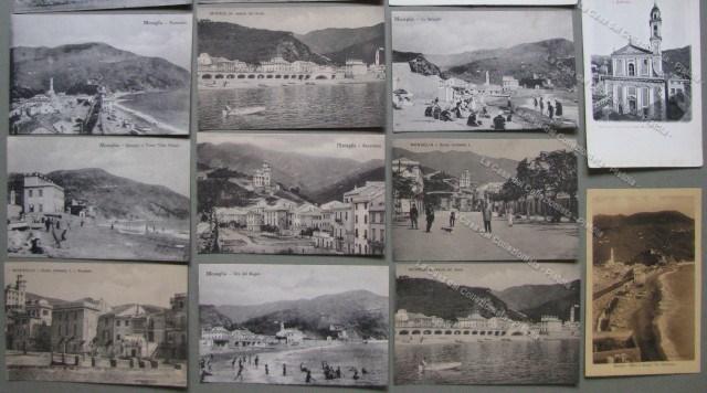 LIGURIA. SESTRI LEVANTE. Genova. Insieme di diciotto cartoline (due ripetizioni). Una a due sezioni, una a tre sezioni.