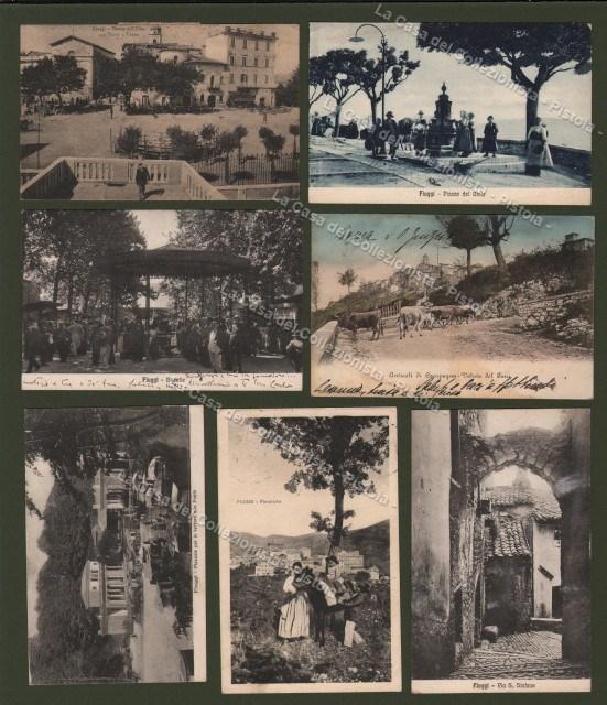 LAZIO. FIUGGI, Frosinone. Sette belle cartoline, di cui sei viaggiate 1911/26.