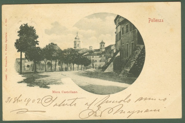 Marche. MACERATA. Pollenza, Mura Castellane.